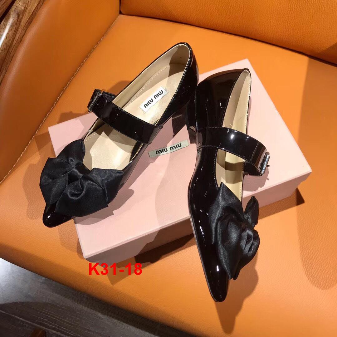 K31-18 Miu Miu giày cao 3cm siêu cấp