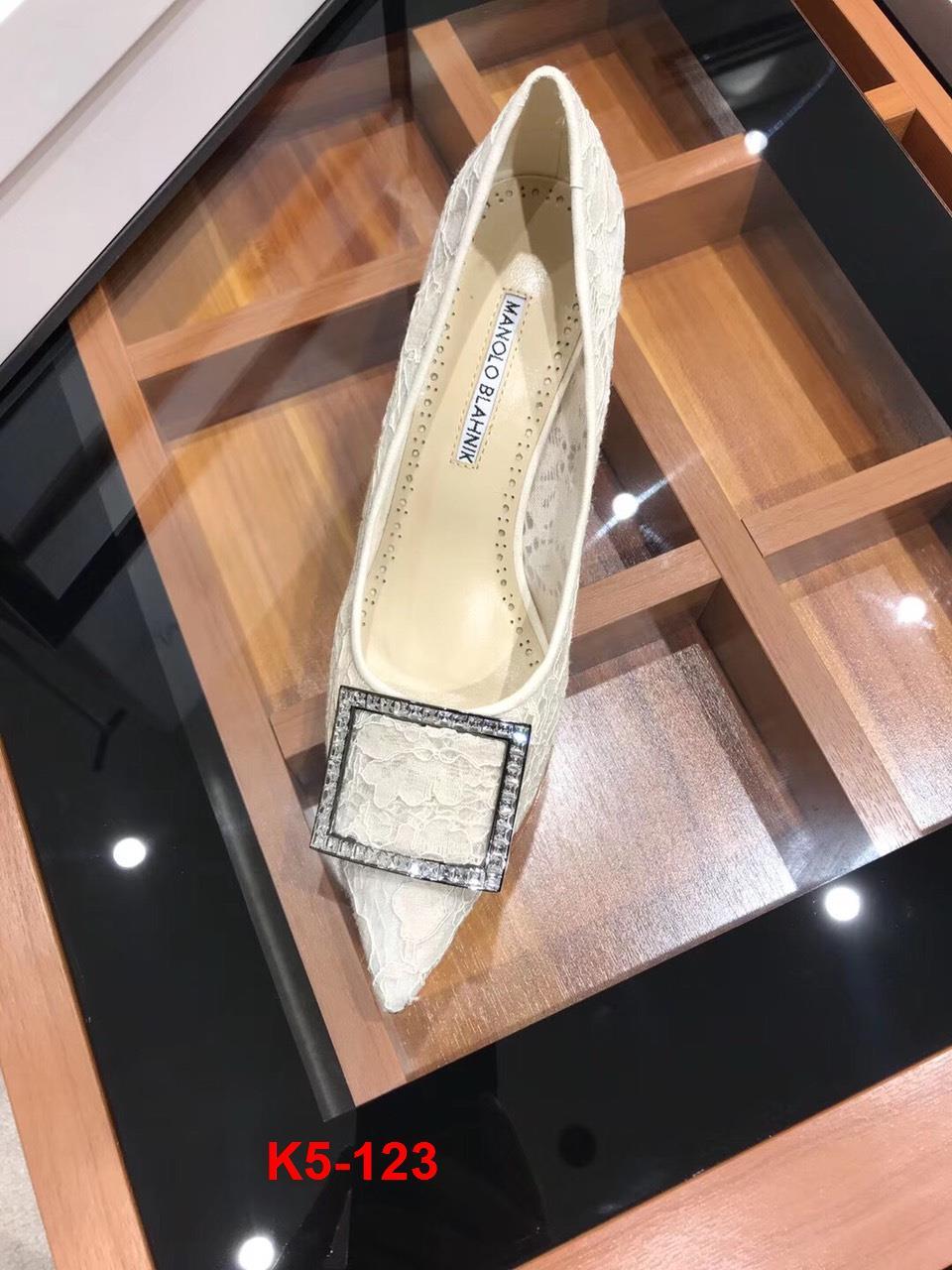 K5-123 Manolo Blahnik giày cao 7cm siêu cấp