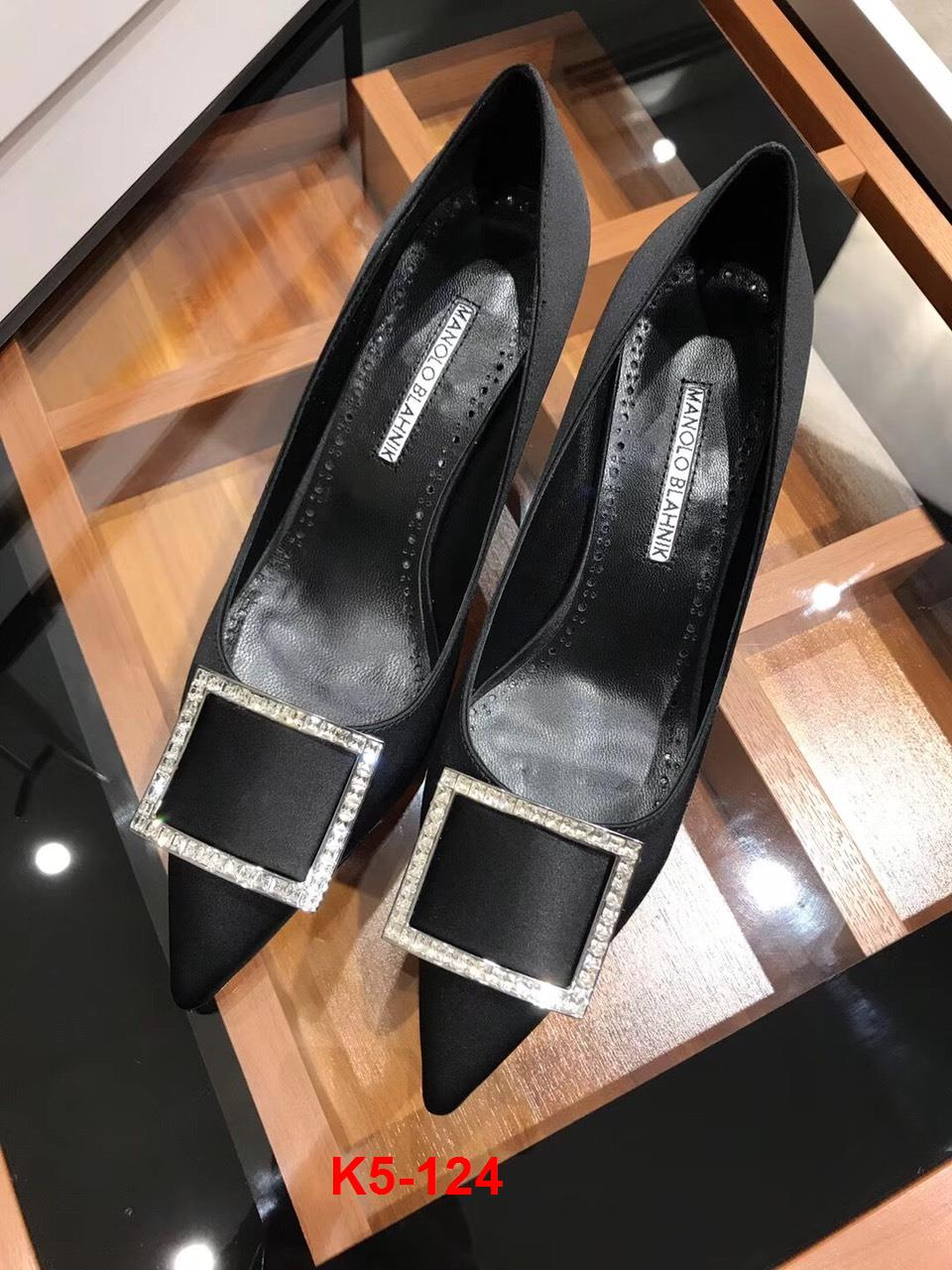 K5-124 Manolo Blahnik giày cao 7cm siêu cấp