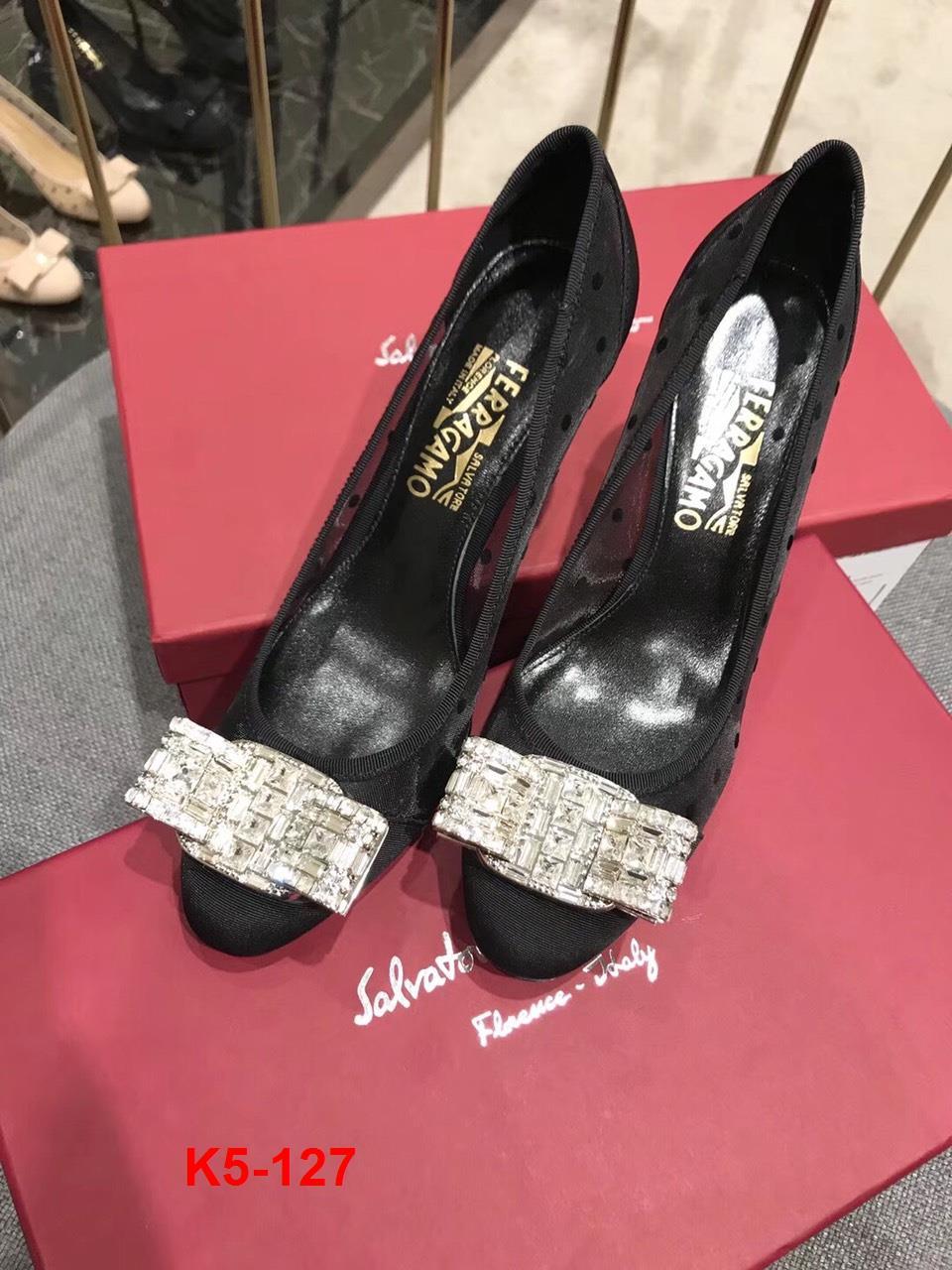 K5-127 Salvatore Ferragamo giày cao 7cm siêu cấp