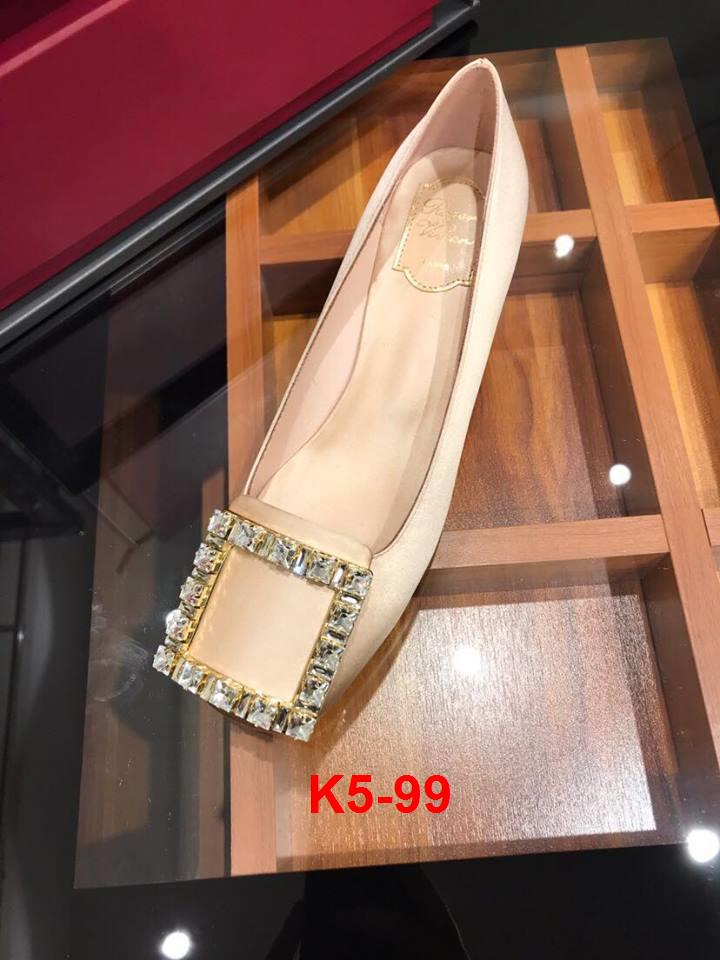 K5-99 Roger Vivier giày cao 4cm siêu cấp