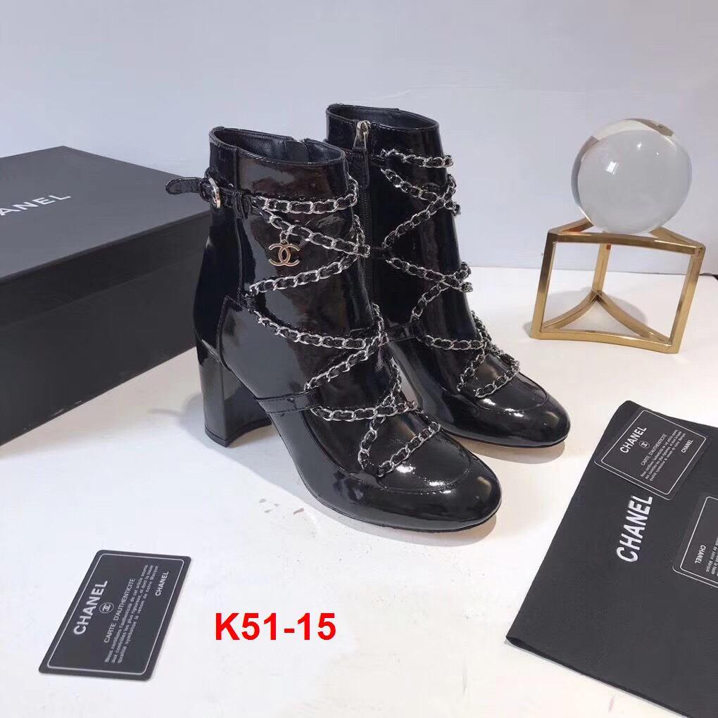K51-15 Chanel bốt cao 9cm siêu cấp