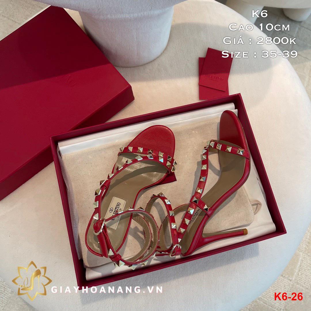 K6-26 Valentino sandal cao 10cm siêu cấp
