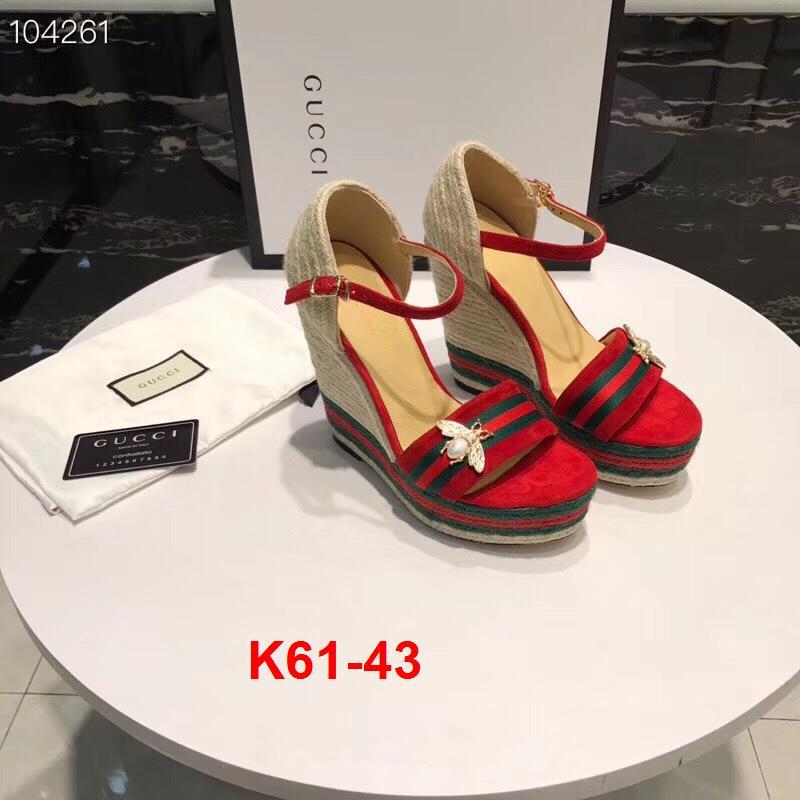 K61-43 Gucci sandal cao 12cm đế xuồng kếp  4cm siêu cấp