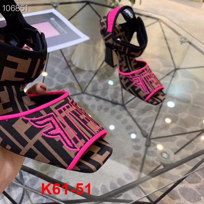 K61-51 Fendi sandal cao 9cm siêu cấp