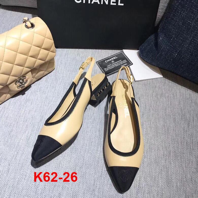 K62-26 Chanel sandal cao 3cm siêu cấp