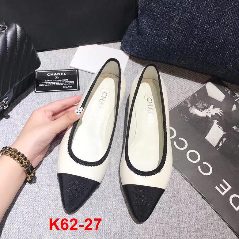 K62-27 Chanel giày cao 3cm siêu cấp