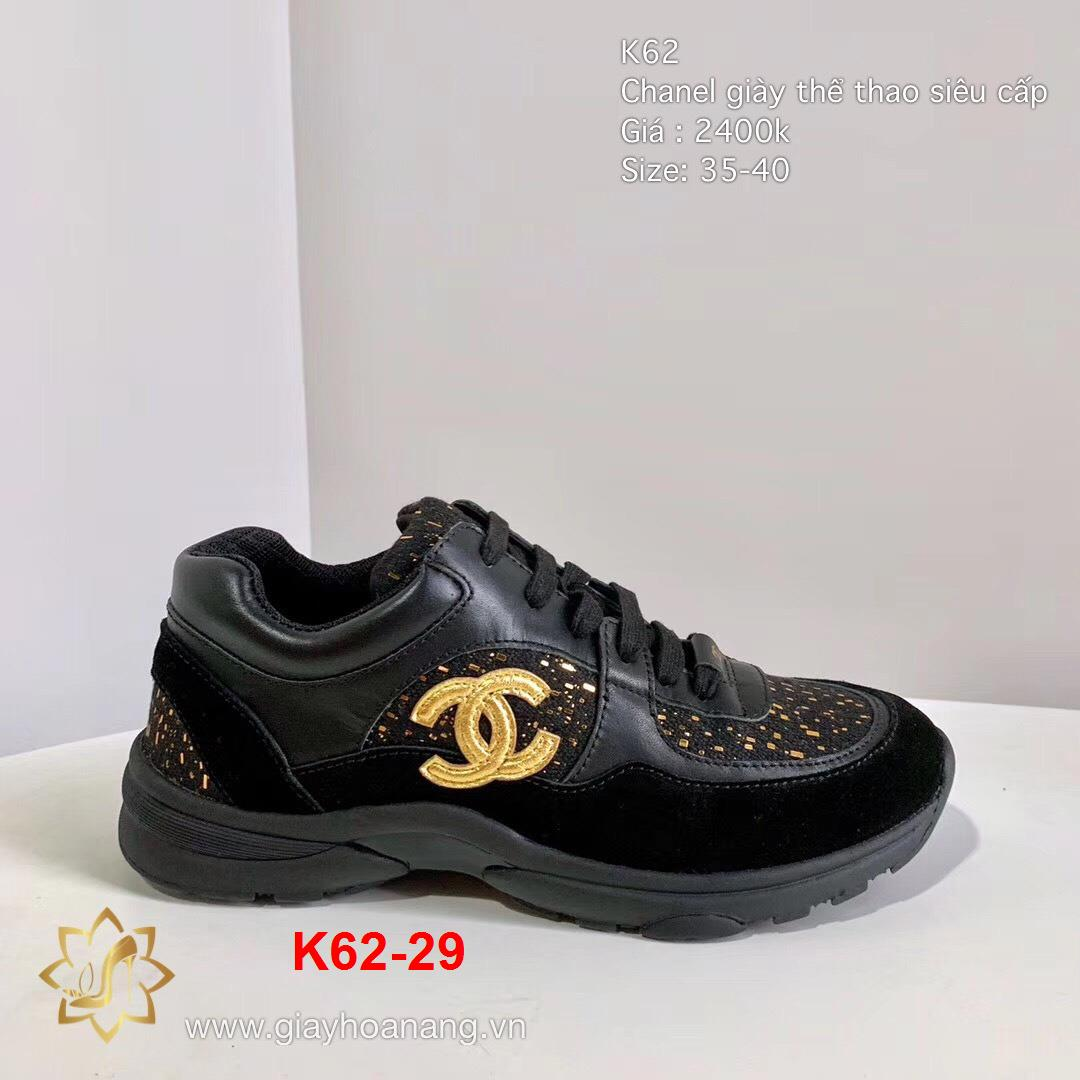 K62-29 Chanel giày thể thao siêu cấp
