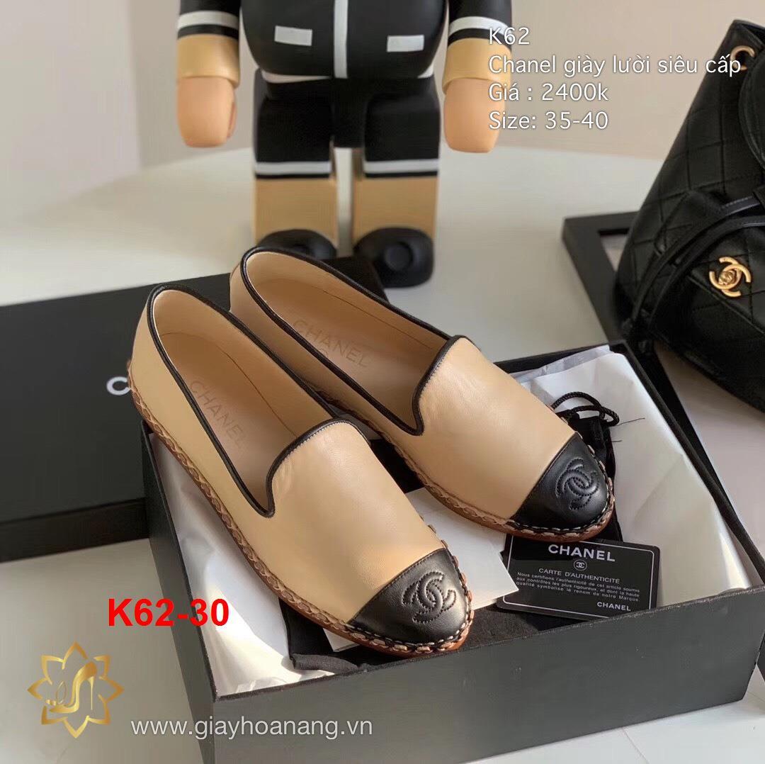 K62-30 Chanel giày lười siêu cấp
