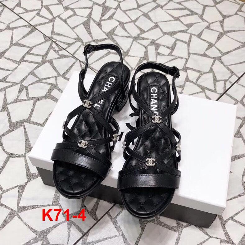 K71-4 Chanel sandal cao 5cm, 8cm siêu cấp