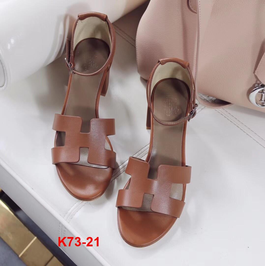 K73-21 Hermes sandal cao 6cm siêu cấp