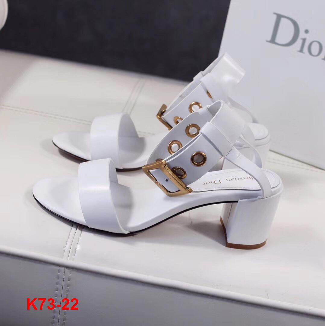 K73-22 Dior sandal cao 6cm siêu cấp