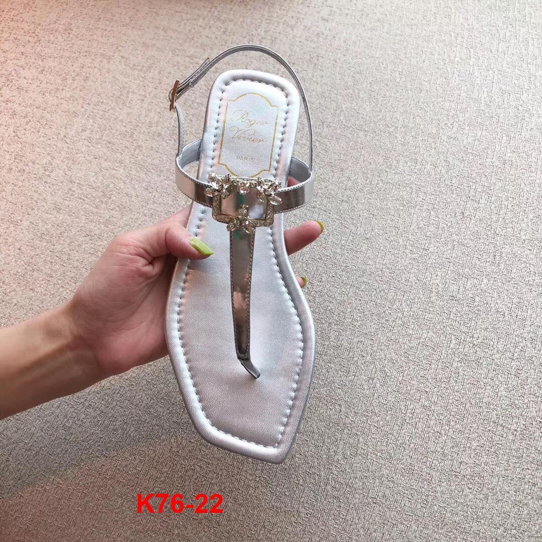 K76-22 Roger Vivier sandal bệt bệt siêu cấp