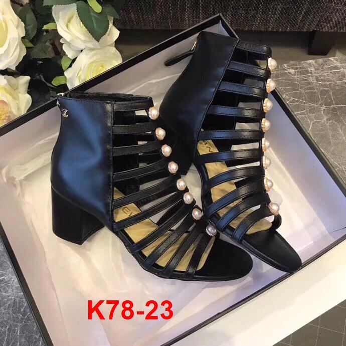 K78-23 Chanel sandal cao 6cm siêu cấp