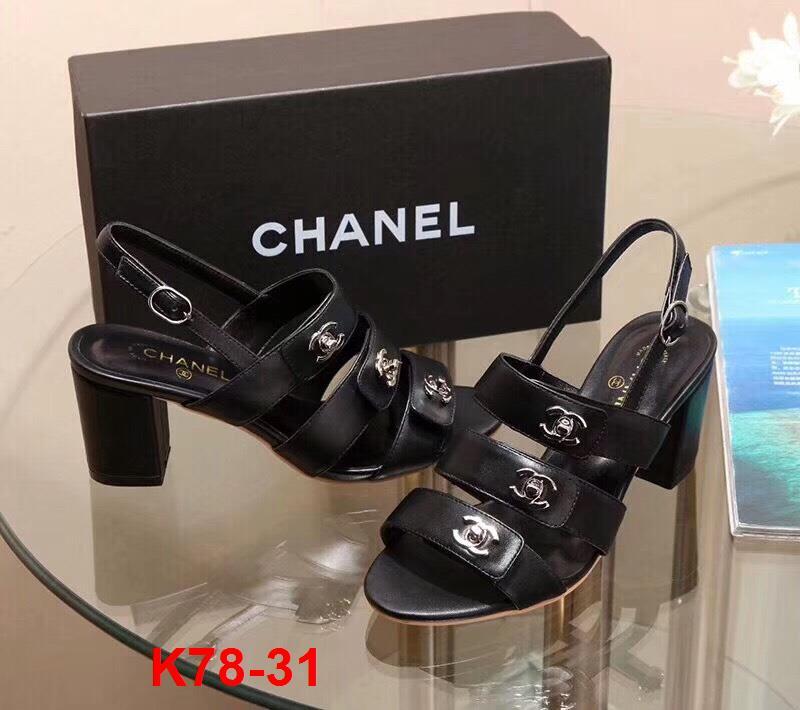 K78-31 Chanel sandal cao 7cm siêu cấp