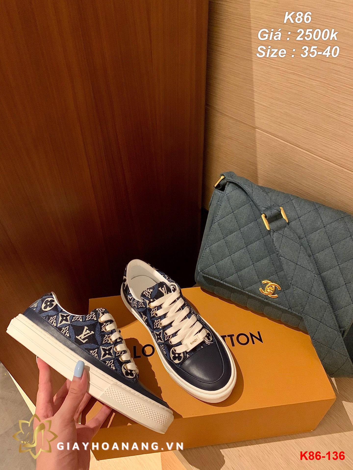 K86-136 Louis Vuitton giày thể thao siêu cấp