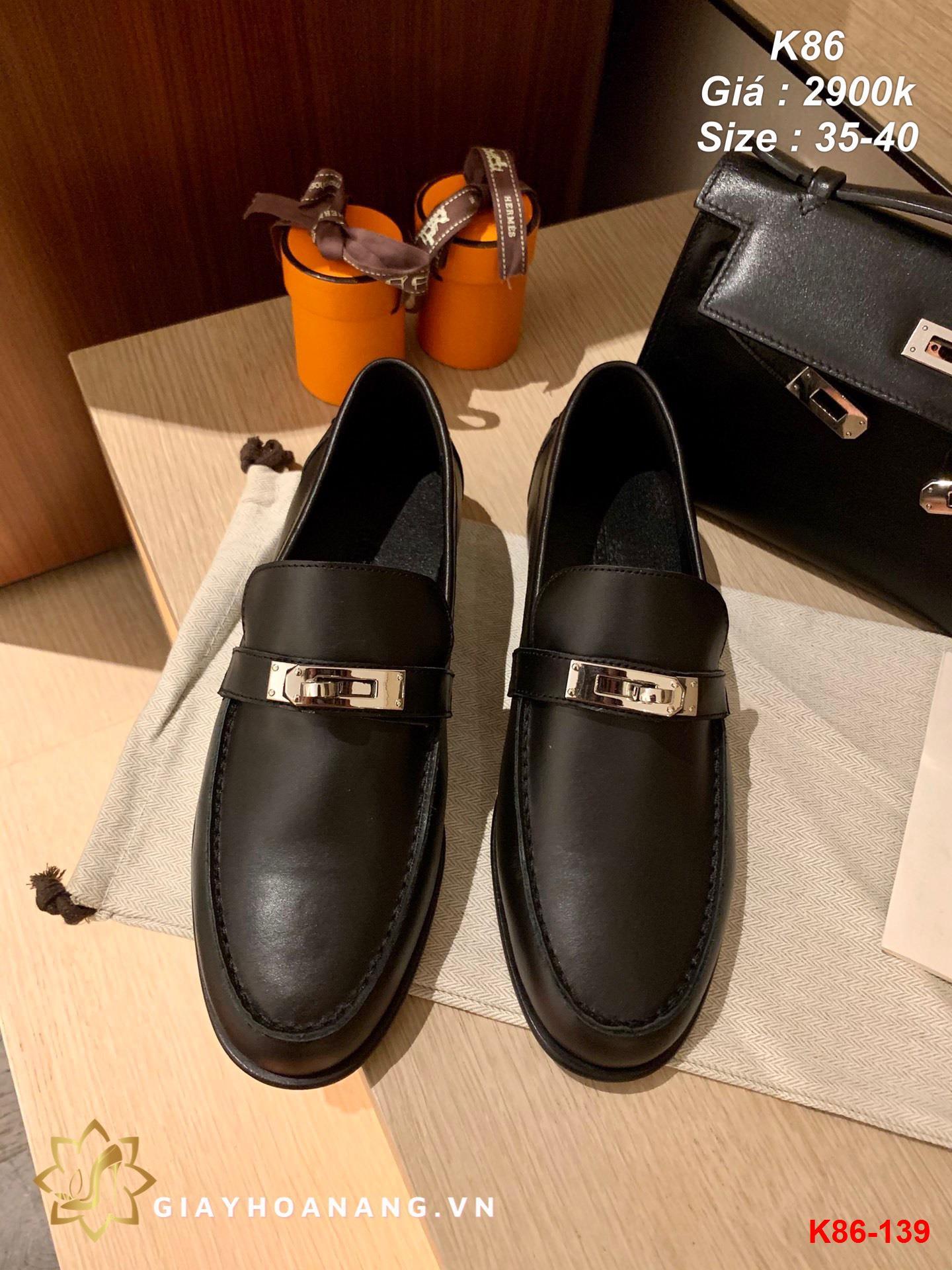 K86-139 Hermes giày lười siêu cấp