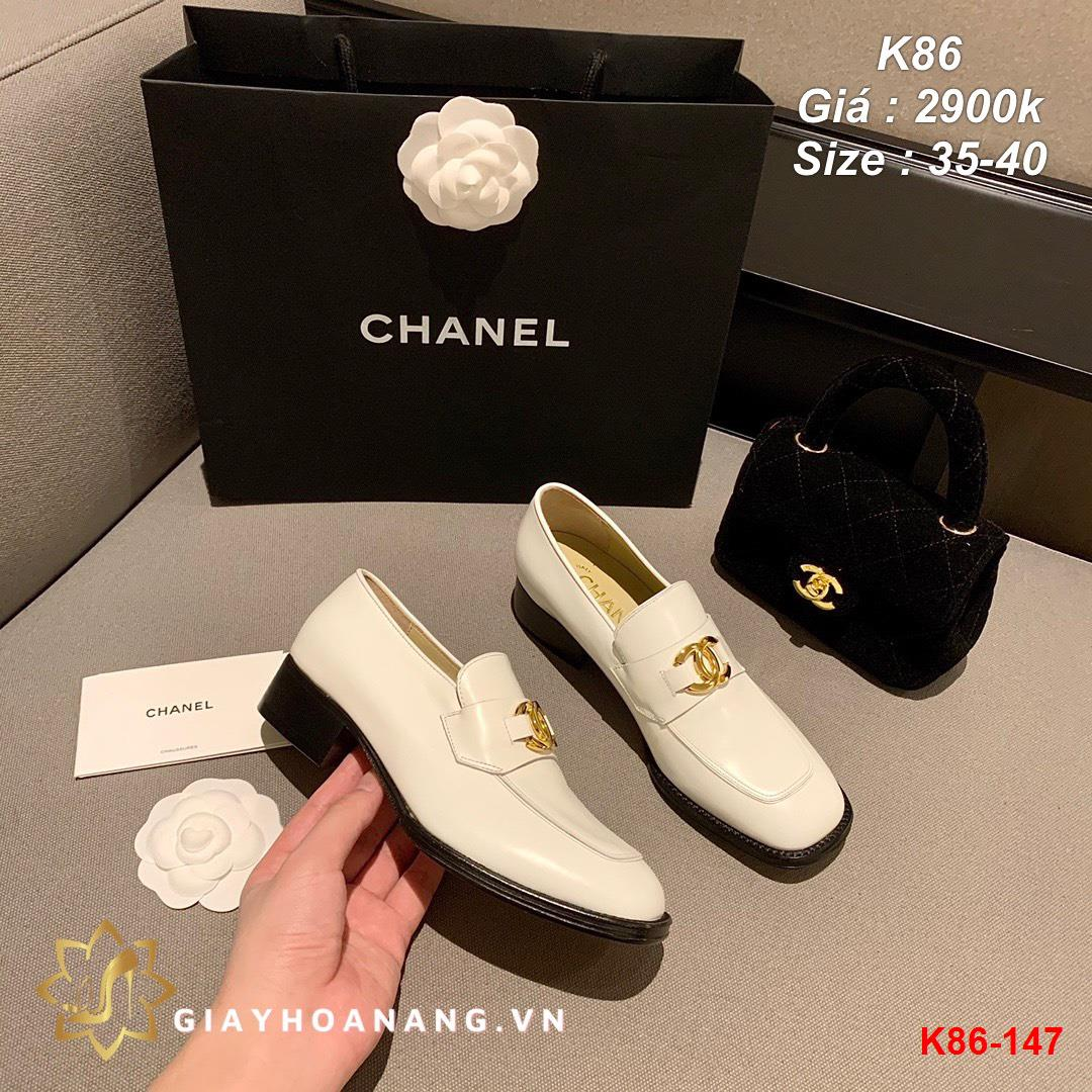 K86-147 Chanel giày lười siêu cấp