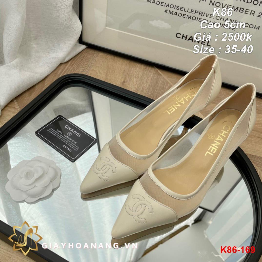 K86-169 Chanel giày cao 5cm siêu cấp