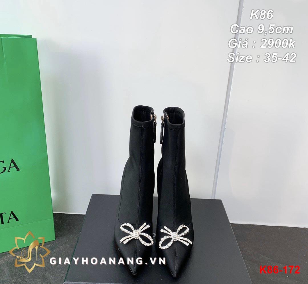 K86-172 Amina Muaddi bốt cao 9,5cm siêu cấp