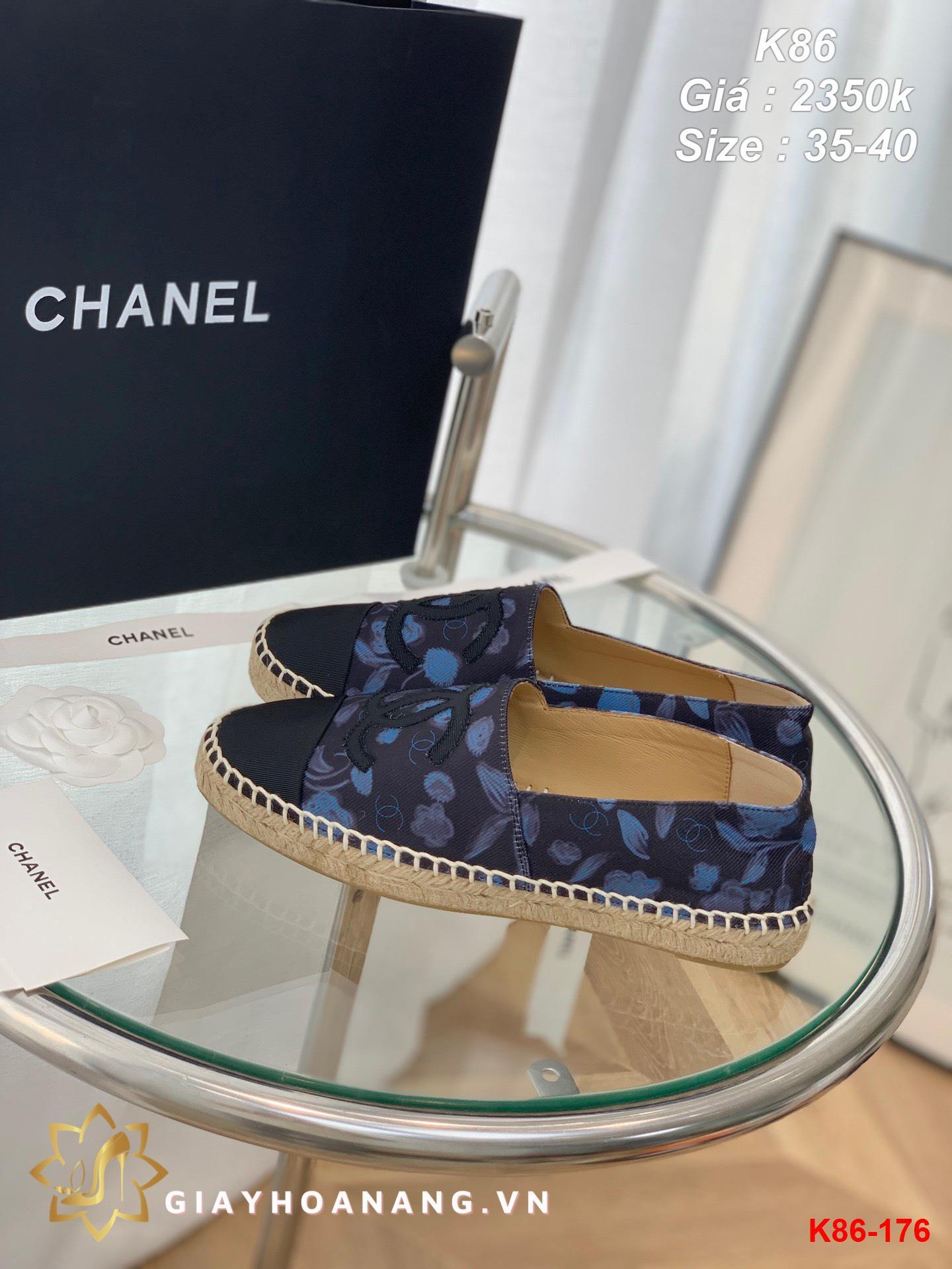 K86-176 Chanel giày lười siêu cấp