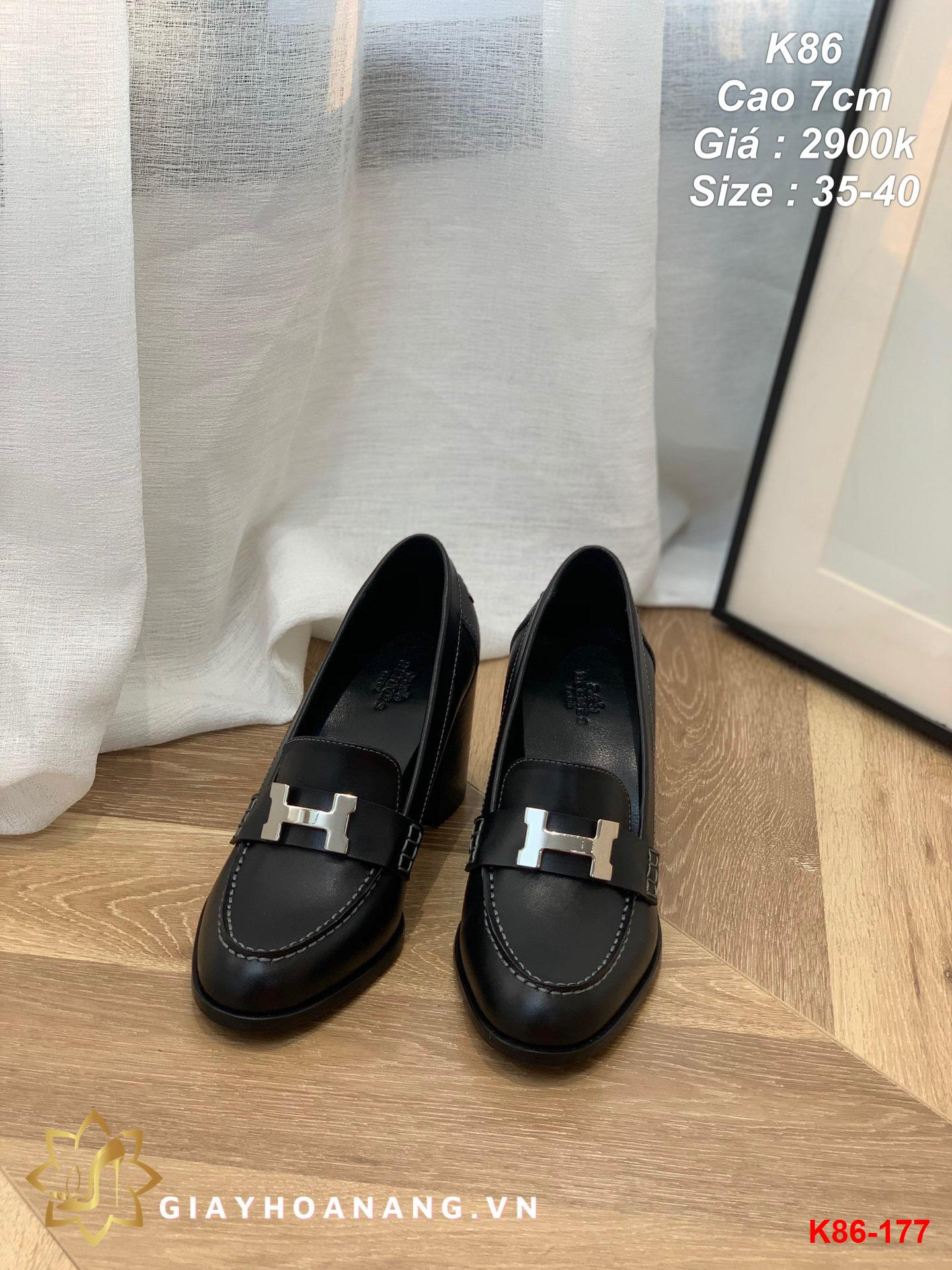 K86-177 Hermes giày cao 7cm siêu cấp