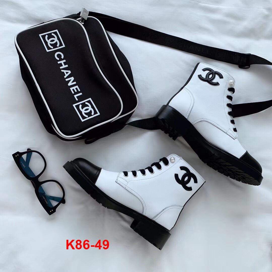 K86-49 Chanel bốt cao 4cm siêu cấp