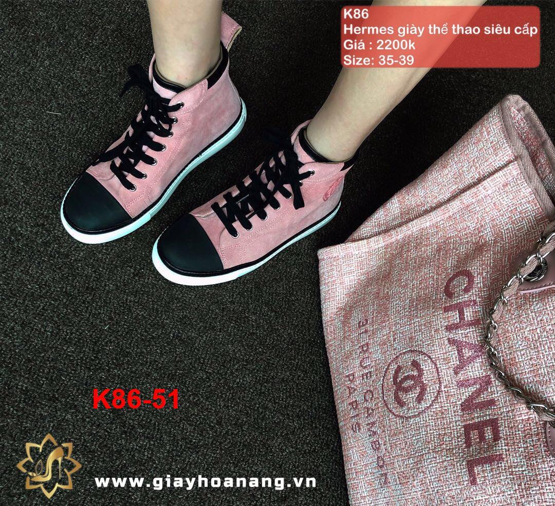 K86-51 Hermes giày thể thao siêu cấp