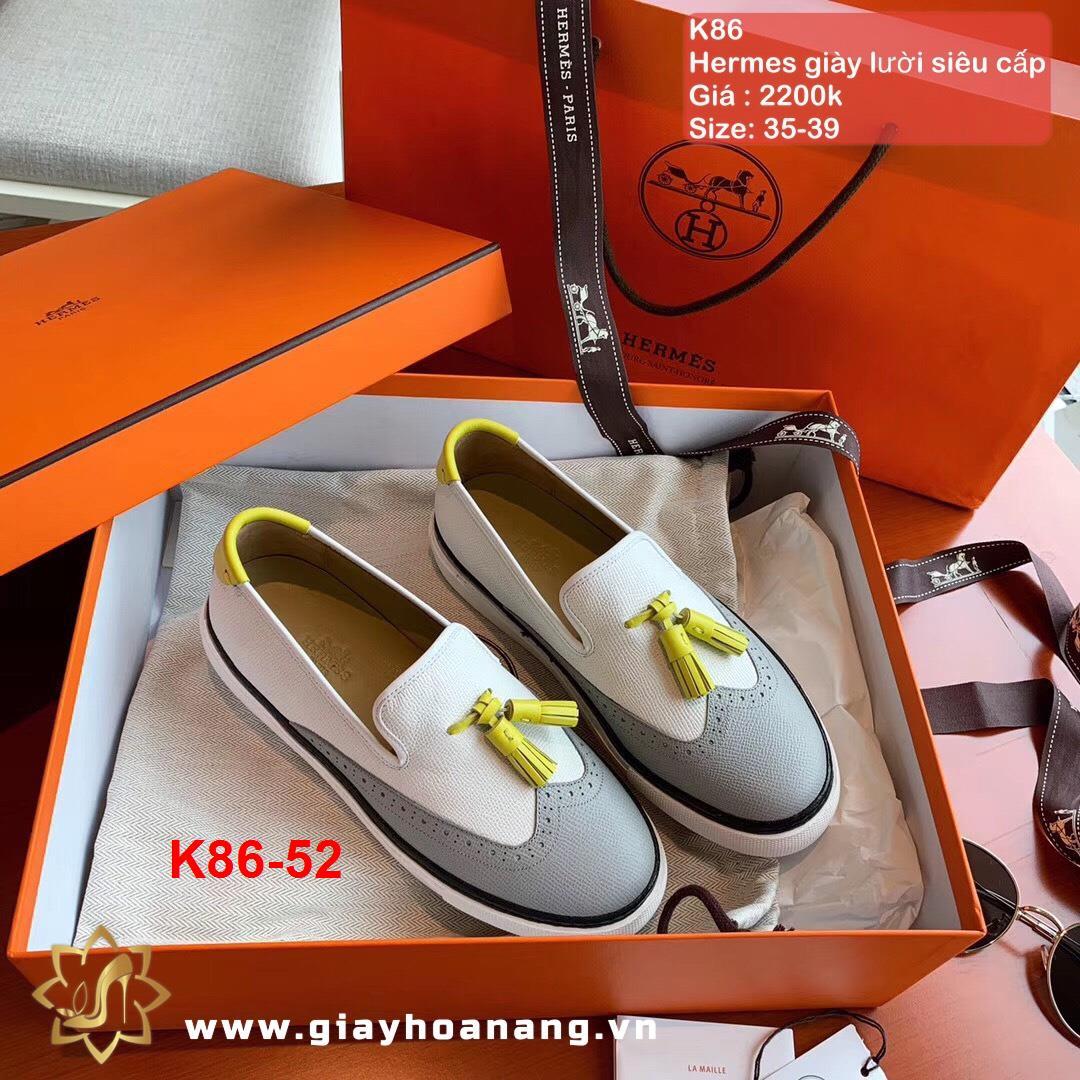 K86-52 Hermes giày lười siêu cấp
