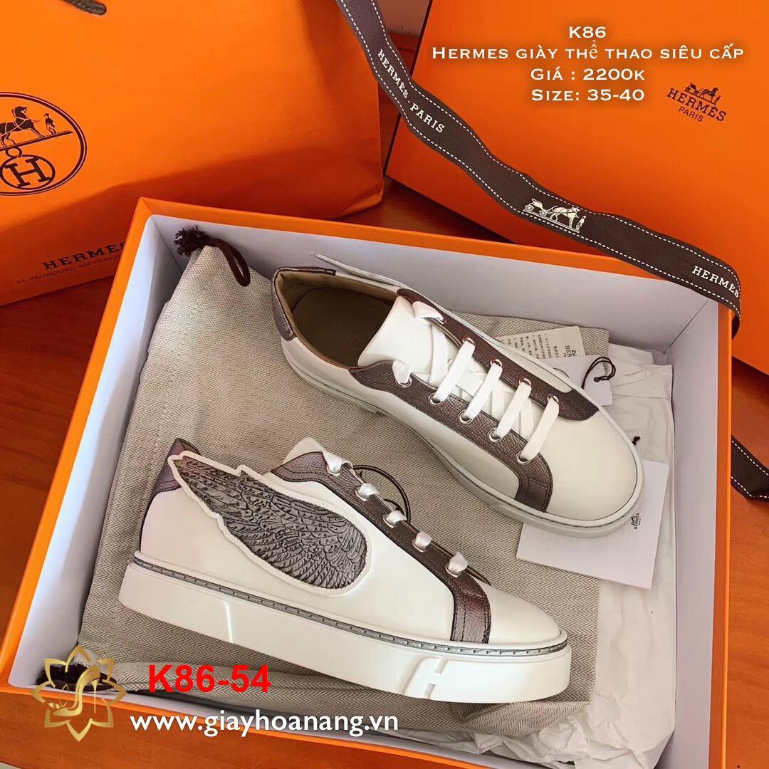 K86-54 Hermes giày thể thao siêu cấp