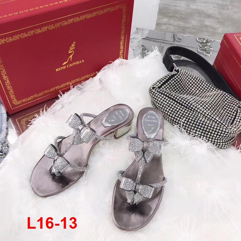 L16-13 Rene Caovilla sandal cao 4cm siêu cấp