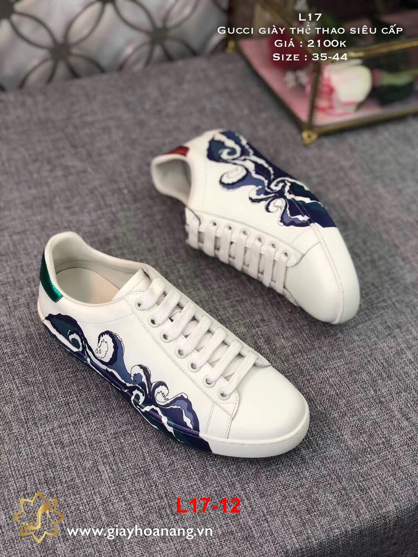L17-12 Gucci giày thể thao siêu cấp