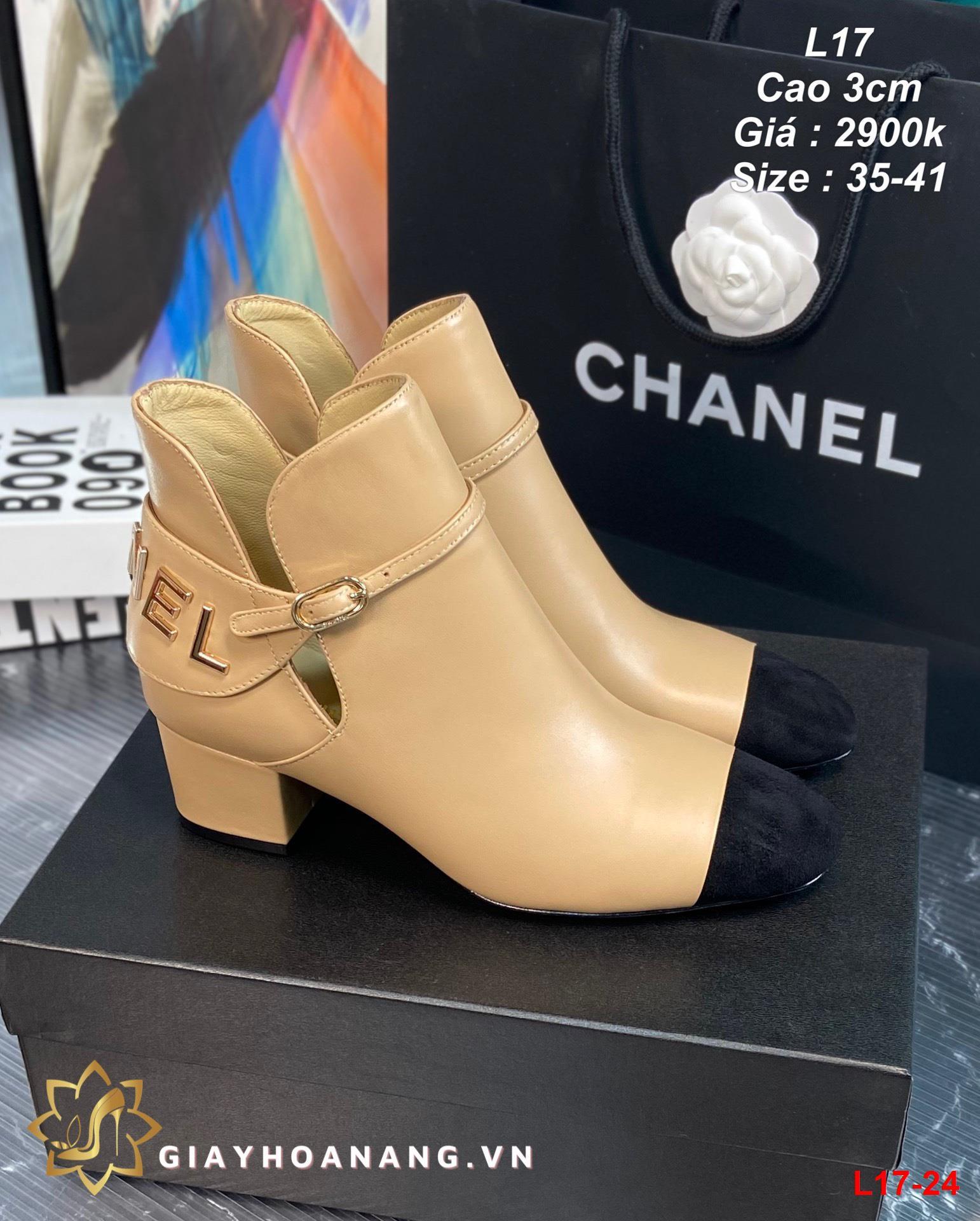 L17-24 Chanel bốt cao 3cm siêu cấp