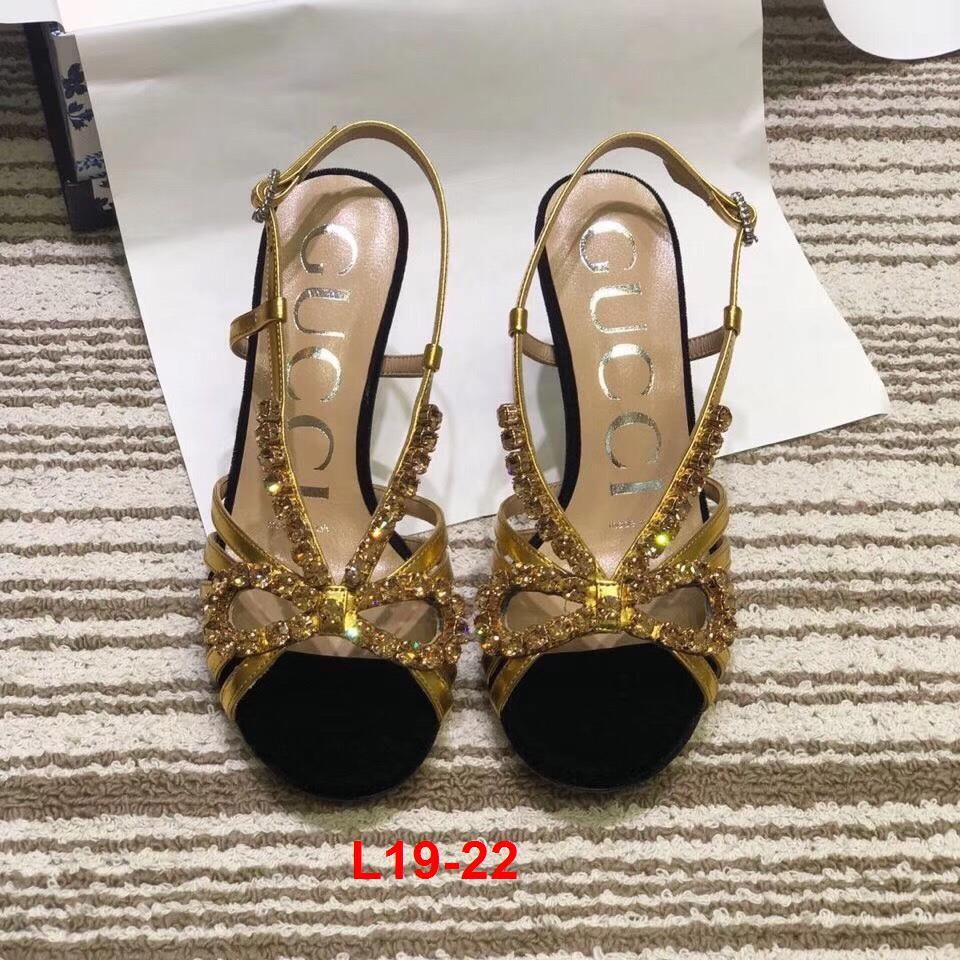 L19-22 Gucci sandal cao 9cm siêu cấp
