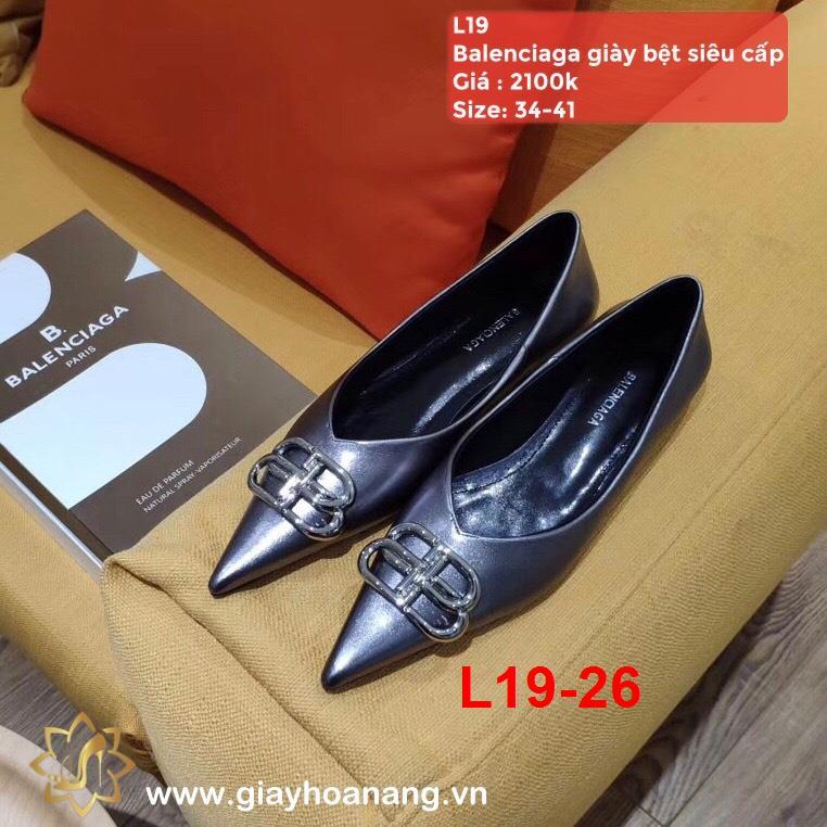 L19-26 Balenciaga giày bệt siêu cấp