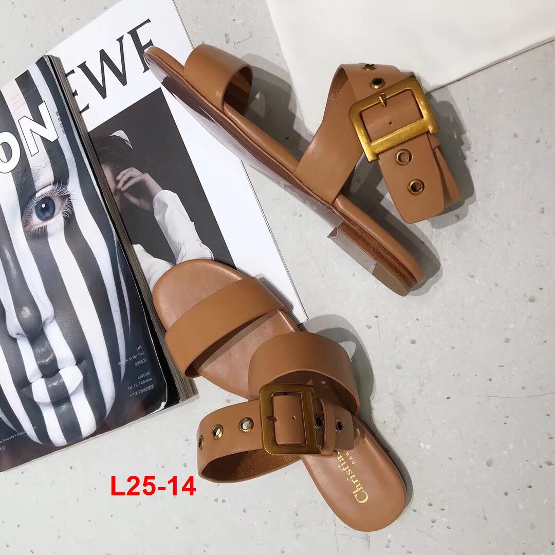 L25-14 Dior sandal bệt siêu cấp