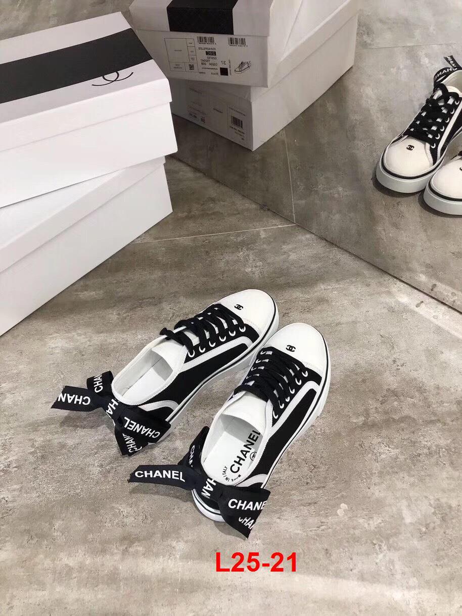 L25-21 Chanel giày thể thao siêu cấp