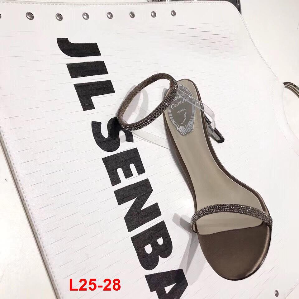 L25-28 Rene Caovilla sandal cao 10cm siêu cấp