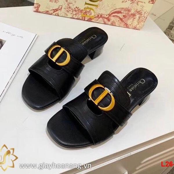 L26-10 Dior dép cao 4cm siêu cấp