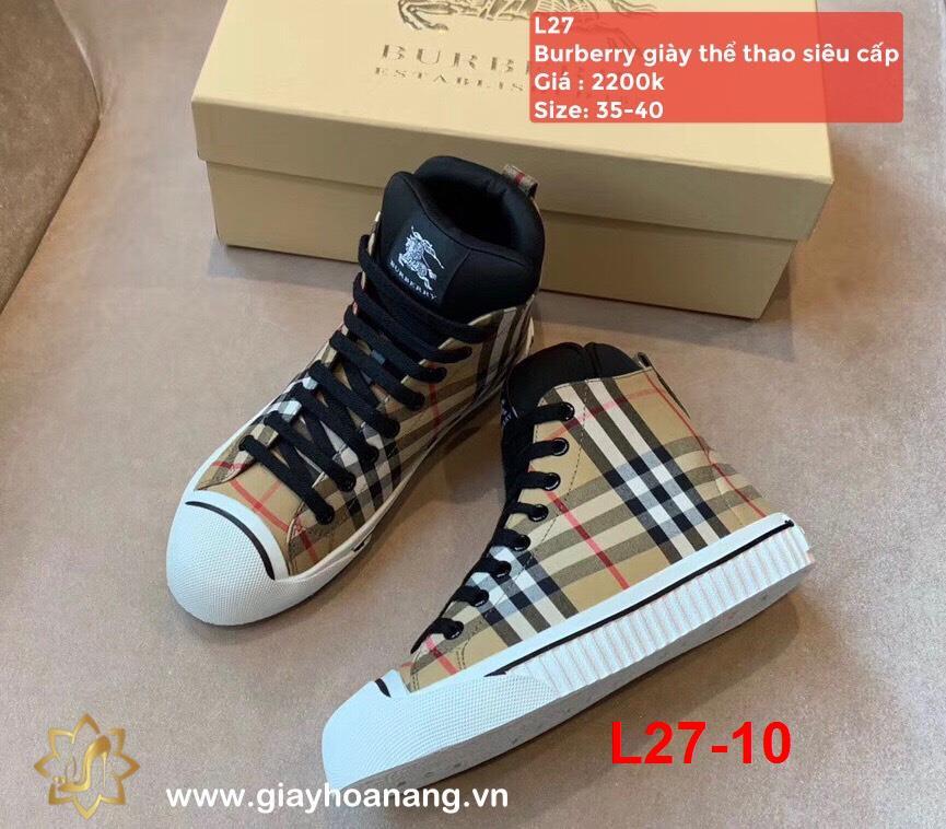 L27-10 Burberry giày thể thao siêu cấp