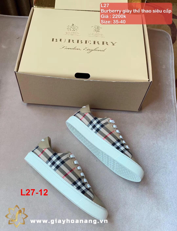 L27-12 Burberry giày thể thao siêu cấp
