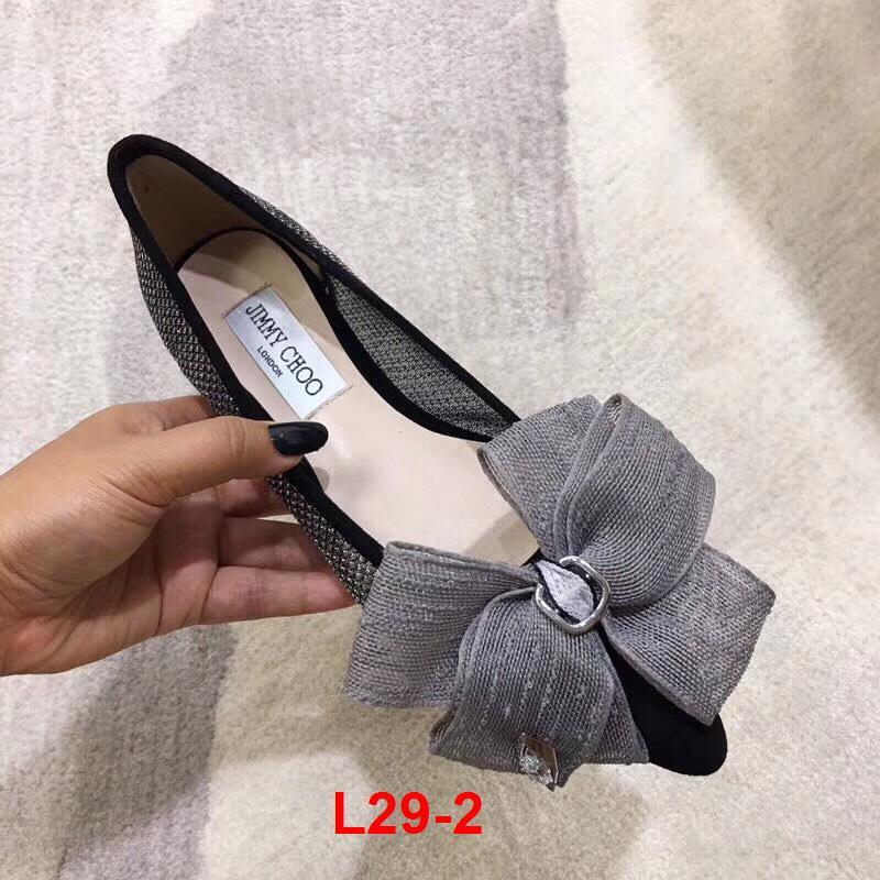 L29-2 Jimmy Choo giày bệt siêu cấp