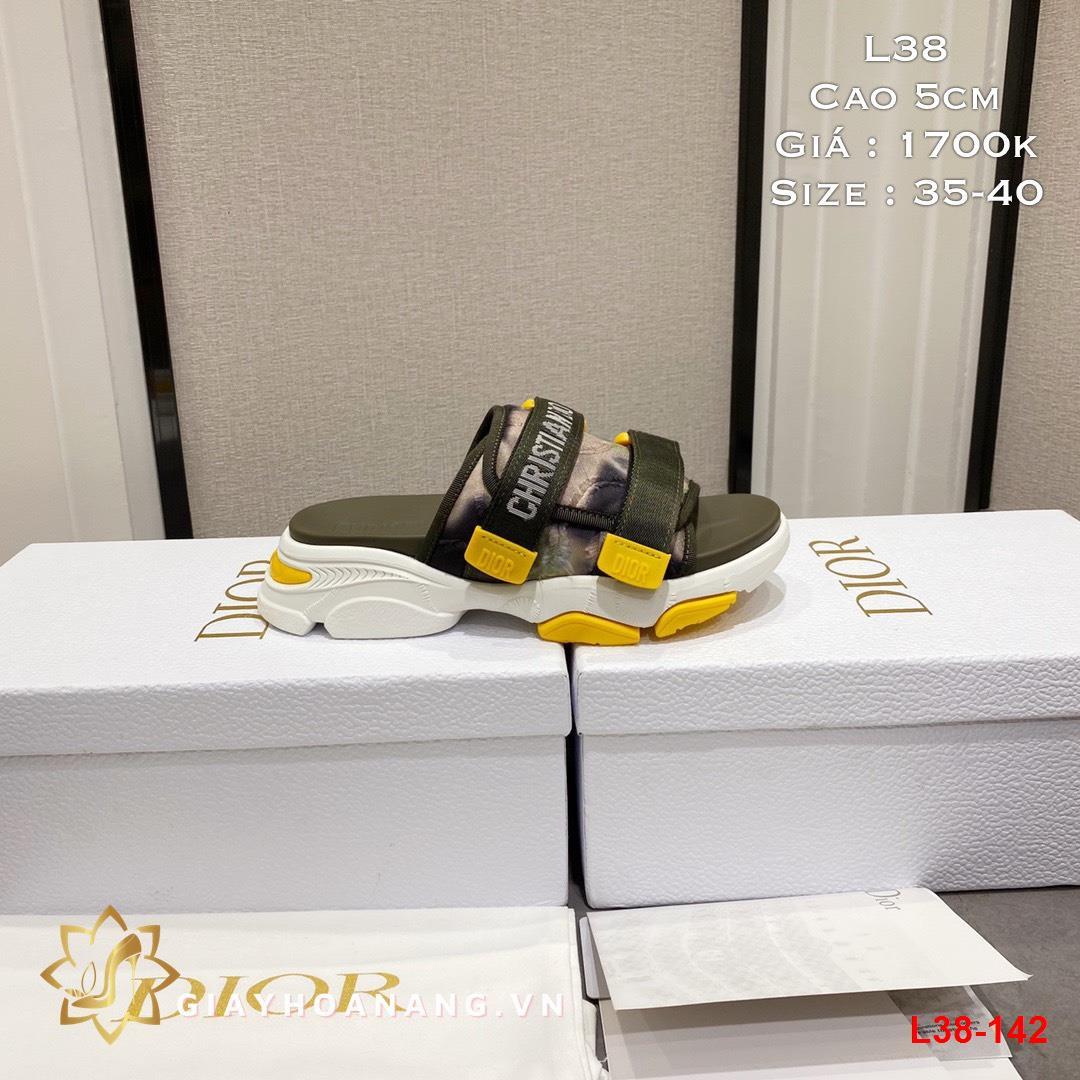 L38-142 Dior dép cao 5cm siêu cấp