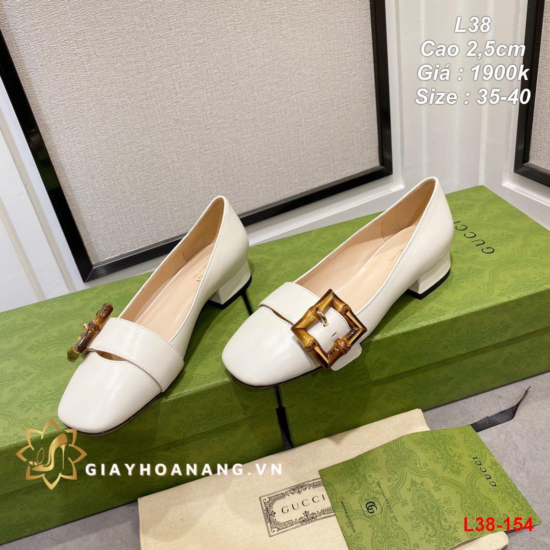 L38-154 Gucci giày cao 2,5cm siêu cấp