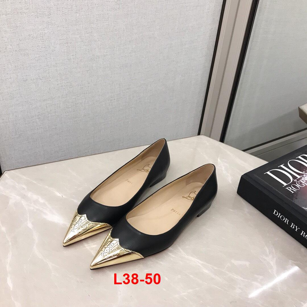 L38-50 Louboutin giày cao 8cm, 10cm, bệt siêu cấp