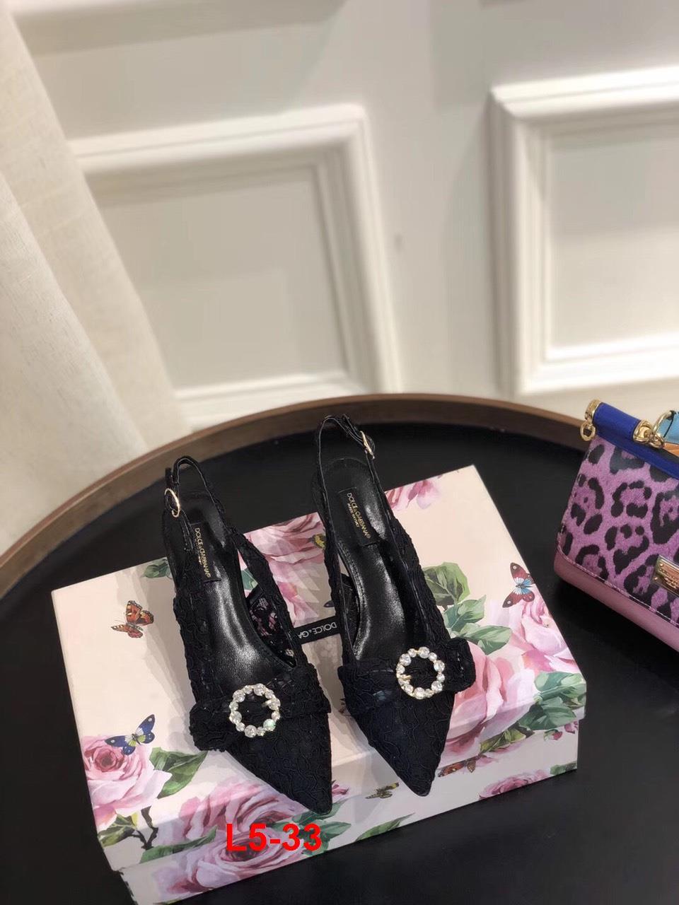 L5-33 Dolce Gabban sandal cao 6cm siêu cấp