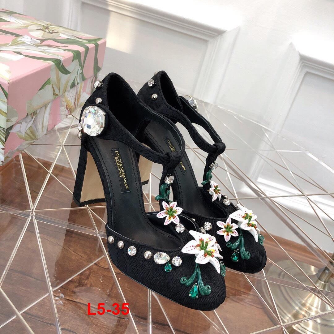 L5-35 Dolce Gabbana sandal cao 6cm, 10cm siêu cấp