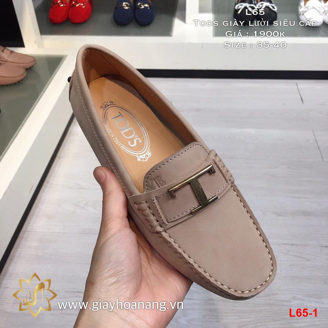 L65-1 Tods giày lười siêu cấp