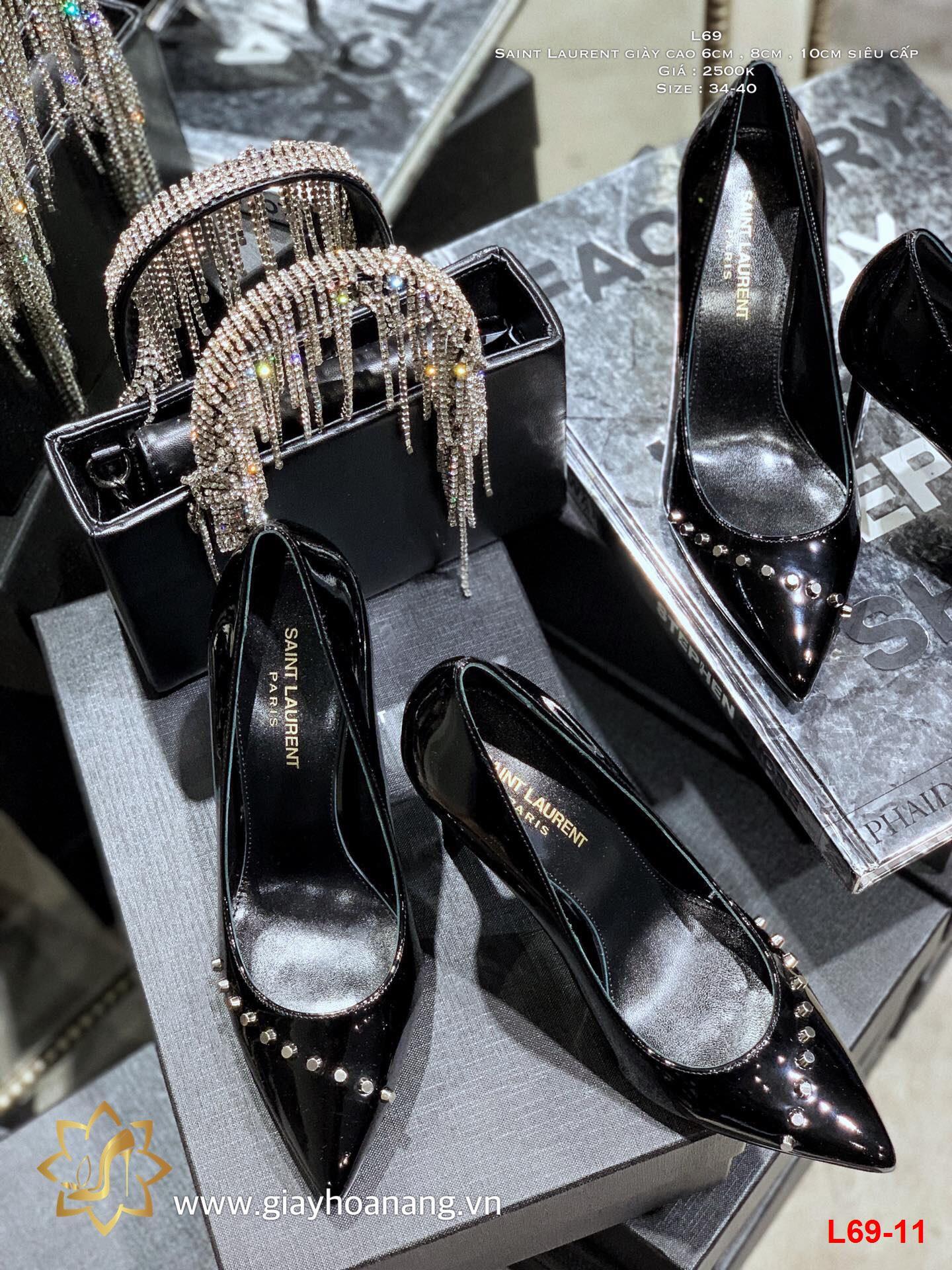L69-11 Saint Laurent giày cao 6cm , 8cm , 10cm siêu cấp