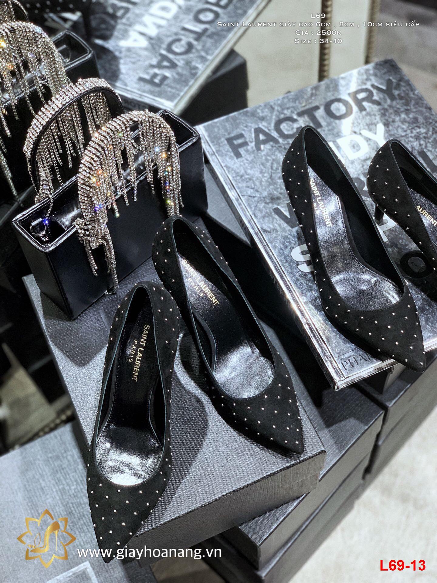L69-13 Saint Laurent giày cao 6cm , 8cm , 10cm siêu cấp